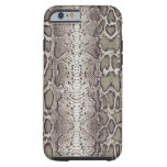 Faux / Fake snakeskin, greens and grays iPhone 6 Case