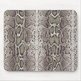 Faux / Fake snakeskin, greens and grays Mouse Pad
