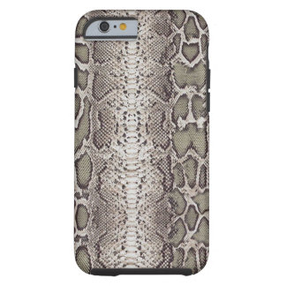 Faux / Fake snakeskin, greens and grays Tough iPhone 6 Case