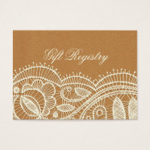 FAUX Faux Recycle Paper, wedding gift registry Business Card