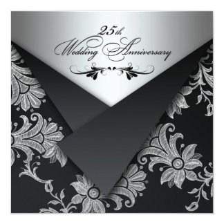 FAUX Flaps 25th Wedding Anniversary Invitation