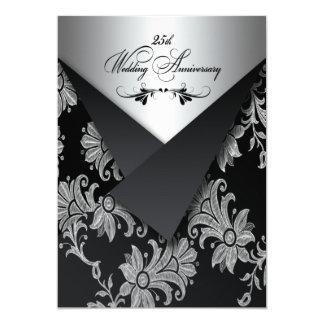 FAUX Flaps 25th Wedding Anniversary Invitation 2