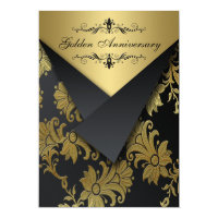 FAUX Flaps Golden Anniversary Invite | Chandelier