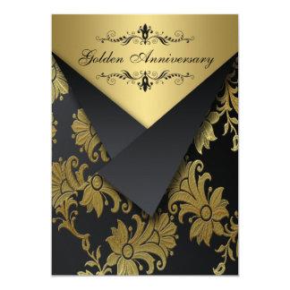 FAUX Flaps Golden Anniversary Invite | Chandelier