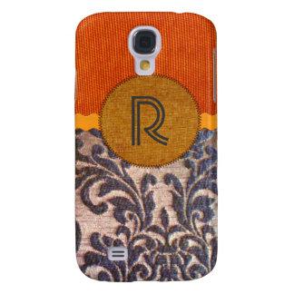Faux Flocked Fabric Monogram Galaxy S4 Case
