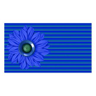 Faux flower & gem business cards