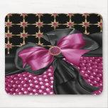 faux flowered,Jeweled & Rhinestone  mousepad