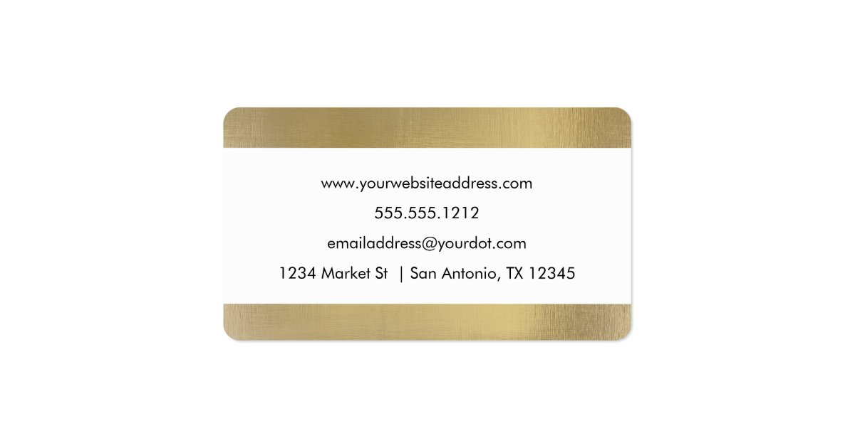 Faux Foil Business Card rounded corners