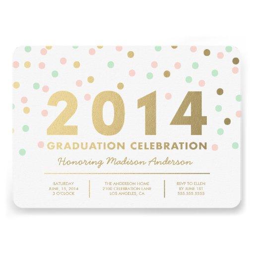 Faux Foil Confetti | Graduation Invitation