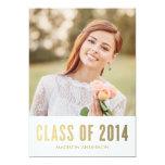 "Faux Foil Edition 3 | Graduation Party Invitation 5"" X 7"" Invitation Card"