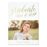 "Faux Foil Edition 8 | Graduation Party Invitation 5"" X 7"" Invitation Card"