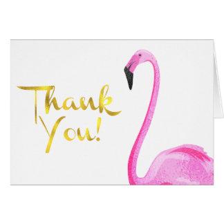 Faux Foil, Flamingo, Thank You Cards