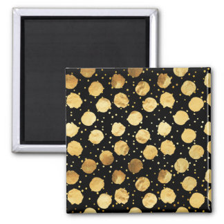 Faux Foil Gold Dots Pattern Background Dot Texture Magnet