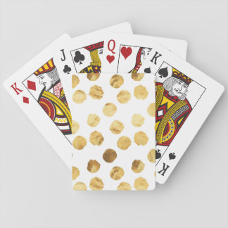 Faux Foil Gold Dots Pattern Background Dot Texture Playing Cards