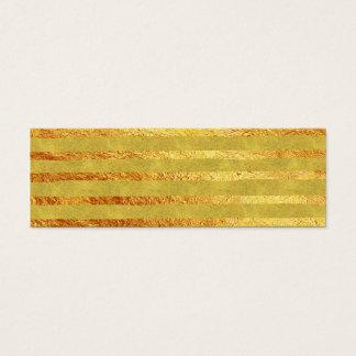 Faux Foil Gold Stripe Background Stripes Texture Mini Business Card