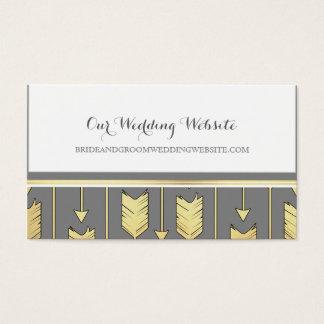 Faux Foil Golden Arrows Gray Website Card