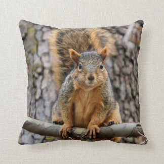 Faux fox squirrel pillow