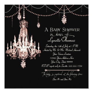 FAUX French Crystal Chandelier Draped Pearl Shower Card