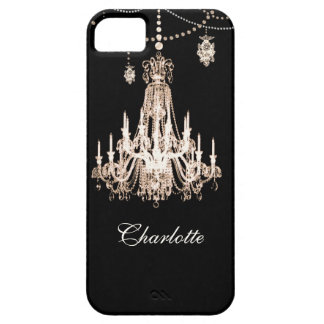 FAUX French Crystal Chandelier Personalized Name iPhone 5 Cover