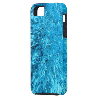 Faux Fur - Electric Blue Fuzz iPhone 5 Covers