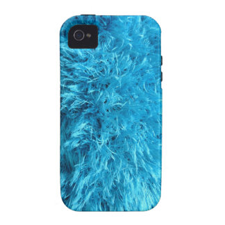 Faux Fur - Electric Blue Fuzz Case-Mate iPhone 4 Covers