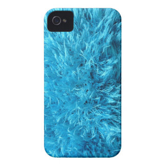 Faux Fur - Electric Blue Fuzz iPhone 4 Covers
