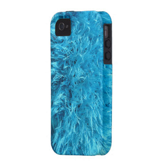 Faux Fur - Electric Blue Fuzz Vibe iPhone 4 Covers