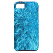 Faux Fur - Electric Blue Fuzz Iphone 5 Case