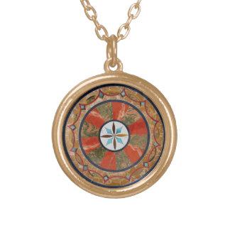 Faux Gemstone Mosaic Tile Necklace