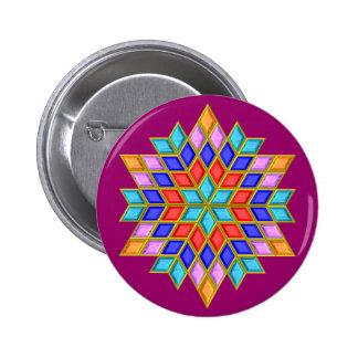 Faux Gemstone Star Quilt Button