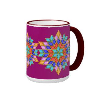 Faux Gemstone Star Quilt Coffee Mug