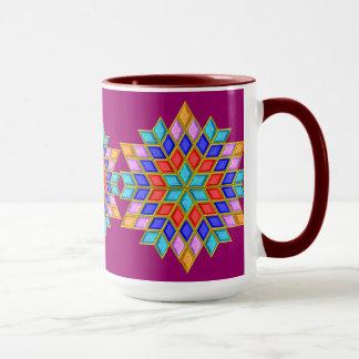 Faux Gemstone Star Quilt Mug