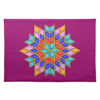 Faux Gemstone Star Quilt Placemats