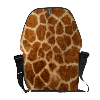Faux Giraffe Fur Courier Bag