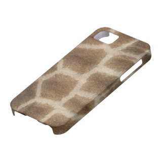 Faux giraffe skin with brown spots, from Africa iPhone SE/5/5s Case