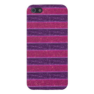 Faux Glitter and Sequin Pink and Purple Covers For iPhone 5