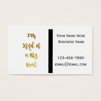 Faux Glitter Big Deal Business Cards