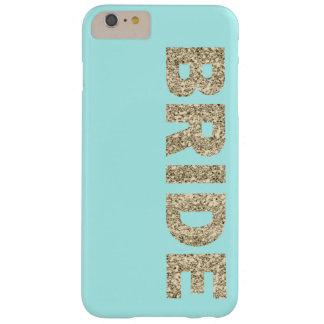 Faux Glitter Bride iPhone 6+ Case in Aqua