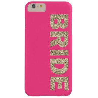 Faux Glitter Bride iPhone 6+ Case in Pink