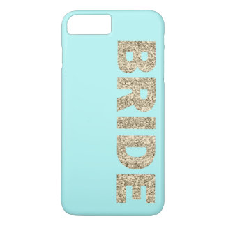 Faux Glitter Bride iPhone 7+ Case in Aqua