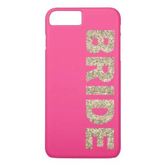 Faux Glitter Bride iPhone 7+ Case in Pink