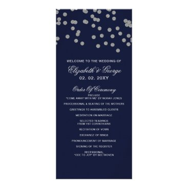 FAUX Glitter confetti navy and silver Programs