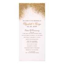 FAUX Glitter Dust Blush & gold Wedding Programs