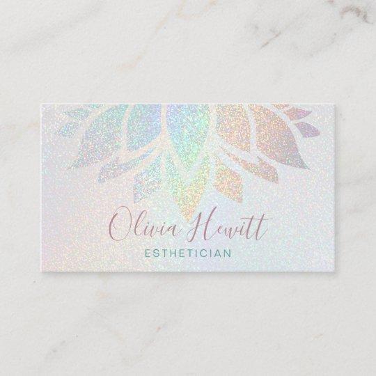Faux Glitter Esthetician Business Card