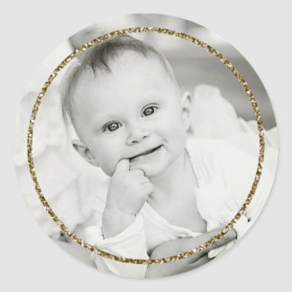 Faux Glitter Frame Photo Sticker