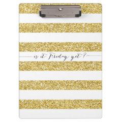 Faux Glitter Is It Friday Yet? Clipboard