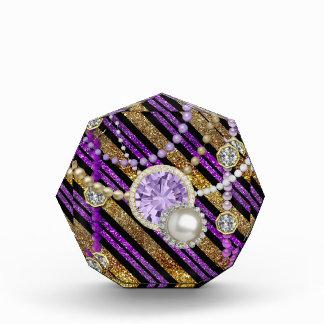 Faux Glitter & Jewels Purple & Gold Tones Award