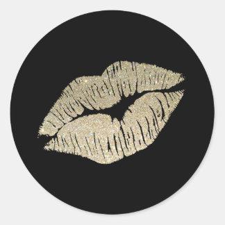 Faux Glitter Lips Sticker