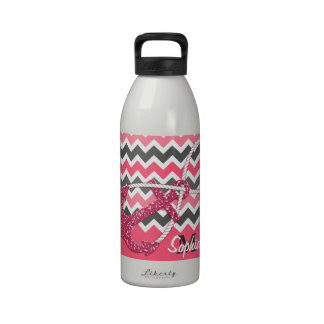 faux glitter nautical anchor infinity symbol reusable water bottle