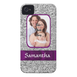 Faux glitter photo background iPhone 4 Case-Mate case